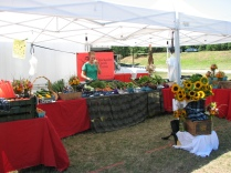 Chickadee Creek Farm, CSA, and organic vegetables, at the Rutgers Garden Farmers Market.