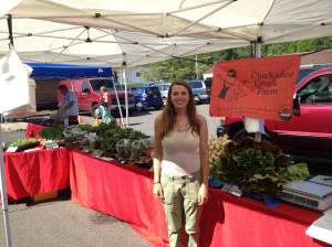 Kimmy of the 2013 crew. Find her rocking the Montgomery Farmer's Market, just like she is doing here